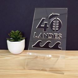 Landes 40 - Support de Téléphone Plexiglas